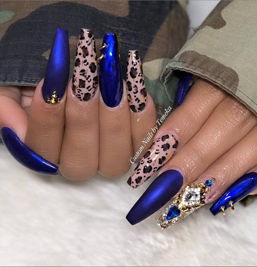Blue nails with design,  Light blue nails,   Navy blue nails,  Royal blue nails,  Acrylic blue nails,  blue nails designs,  sparkly blue nails,  glitter blue nails,  pastel blue nails,  blue stiletto nails,  blue stilleto nails,  blue sparkly nails