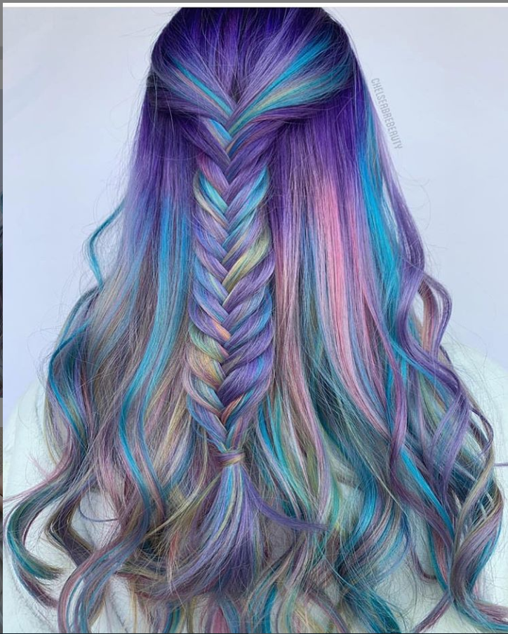 42 Chic Blue Highlights Hair Color And Hairstyle Ideas For Short & Long Hair