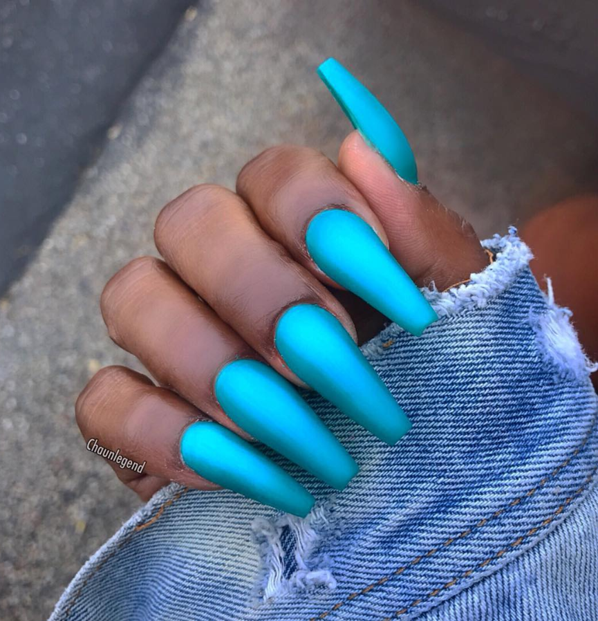 30 Natural Matte Coffin Nails Design With Different Colors For Spring & Summer