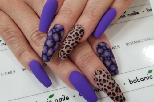 60+ Gorgeous Acrylic ?Purple Nails Art Design Ideas