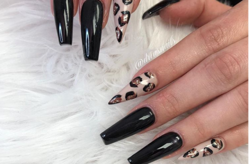 30 Incredible Acrylic Black Nail Art Designs Ideas For Long Nails