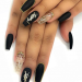 80+ Matte Black Coffin & Almond Nails Design Ideas To Try