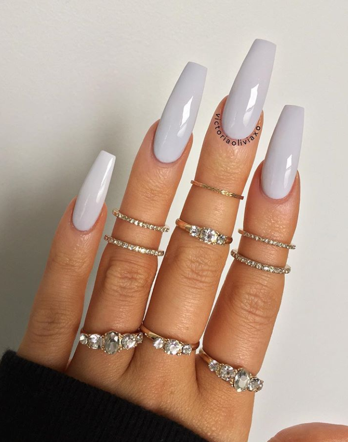80+ Elegant Nude Coffin Nails Design For Long Nails That