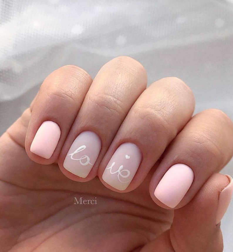 60+ Acrylic Square Nails Design And Color Ideas For Short Nails— White Black & Pink