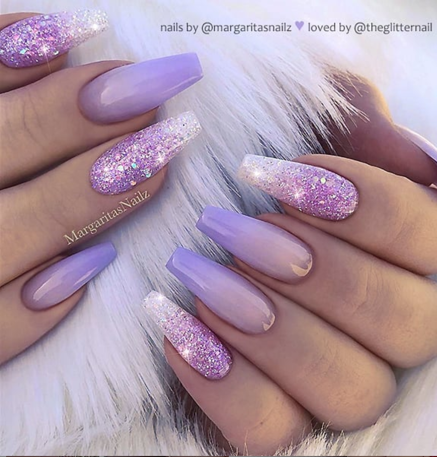 60+ Gorgeous Acrylic ?Purple Nails Art Design Ideas - Page ...