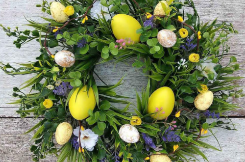 60+ Best Easter Egg Wreaths DIY For Front Door Home Decor