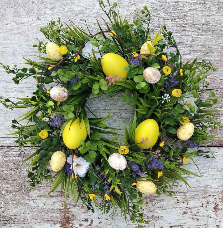 60+ Best Easter Egg Wreaths DIY For Front Door Home Decor