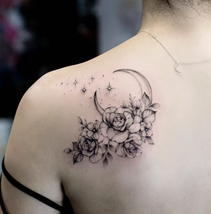 Flower Shoulder Tattoo Designs: 26 Awesome Floral Shoulder Tattoo Design Ideas For Woman