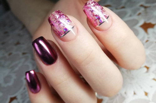 36 Sparkle Glitter Acrylic Nail Designs Ideas For Short Square & Almond Nails