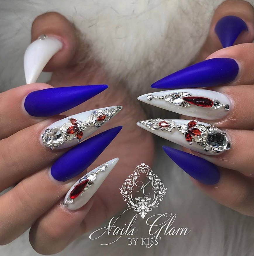 75 Chic Classy Acrylic Stiletto Nails Design You Ll Love Page 5 Of 75 Fashionsum Blog
