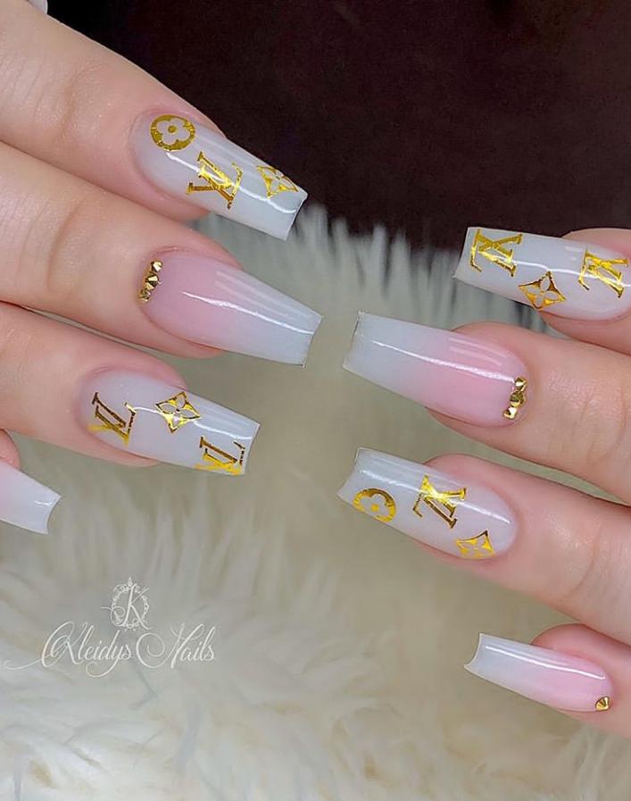 42 Beautiful Acrylic Coffin - Ballerina Nails Design Ideas