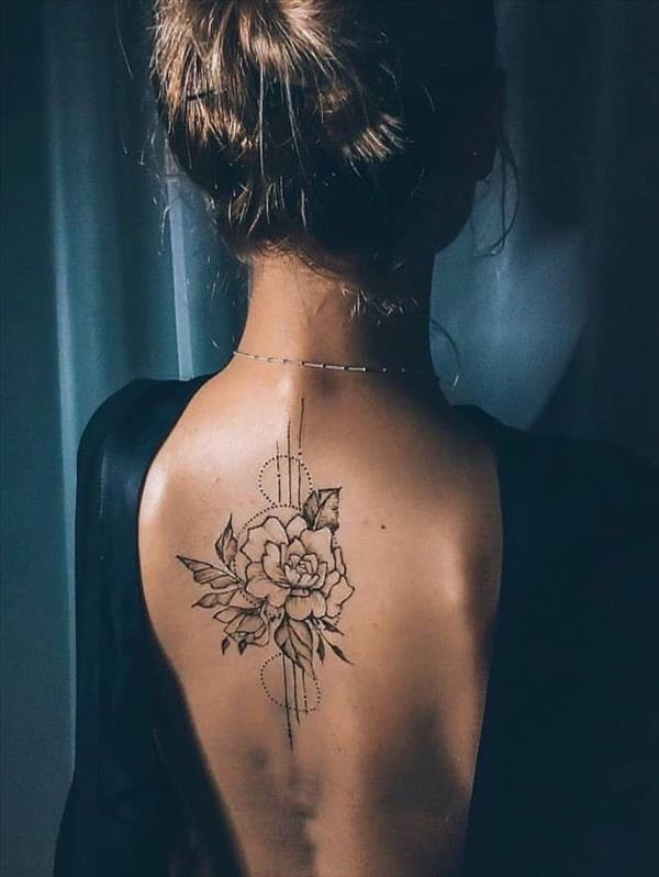 Sexy nude girl with beautiful full body tattoos Tattoos