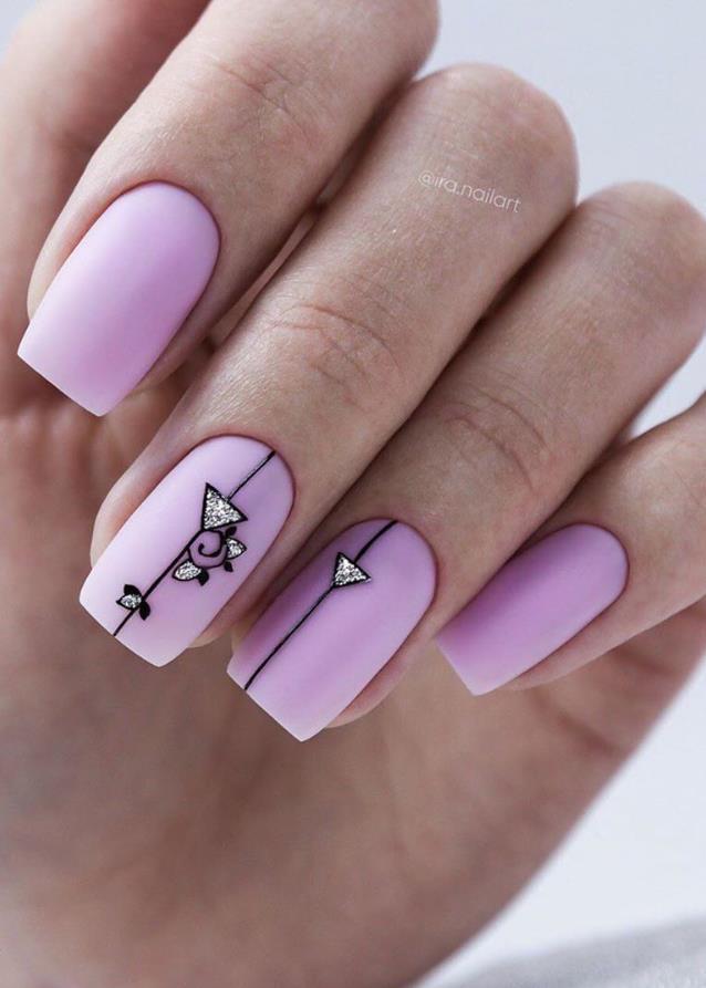 33 Trendy Natural Short Square Nails Design For Spring ...