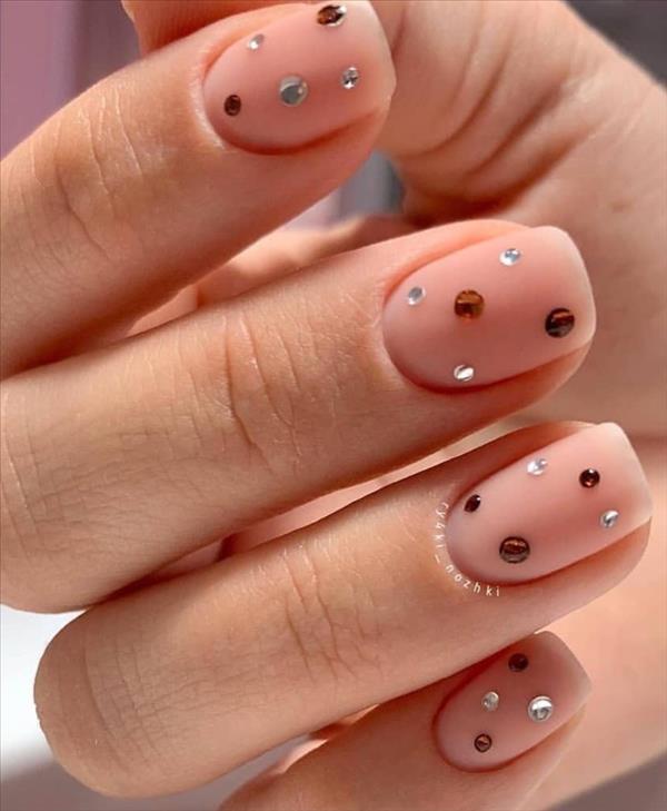 66 beautiful summer nails design with natural short square nails