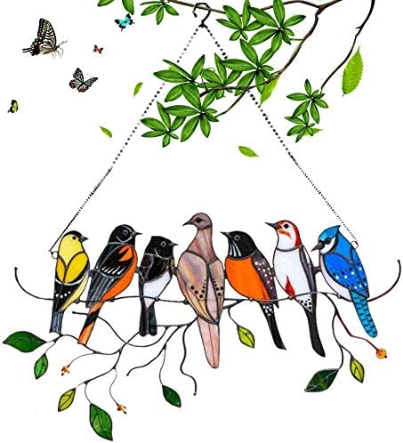 Best Mother's Day gift 2021- Stained glass humming bird suncatcher